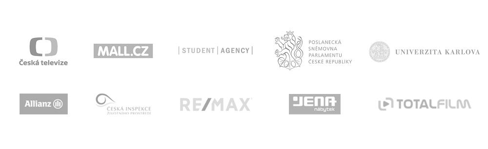 Česká televize, Mall.cz, Student Agency, Poslanecká sněmovna parlamentu České republiky, Univerzita Karlova